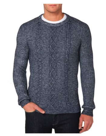 Remus Uomo Tapered fit cable knit sweater